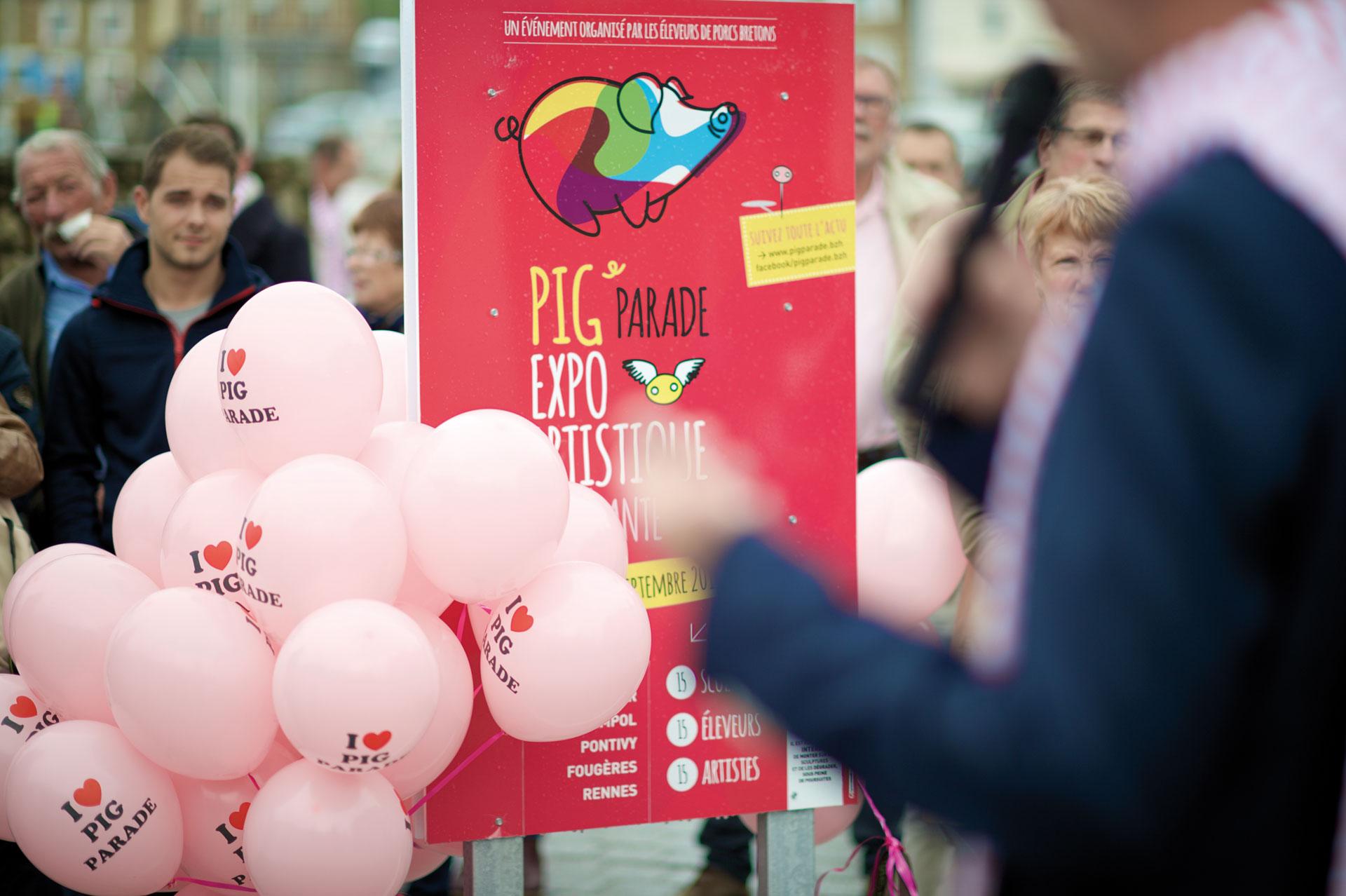 Exposition artistique Pig Parade 2015- agence Coqueliko