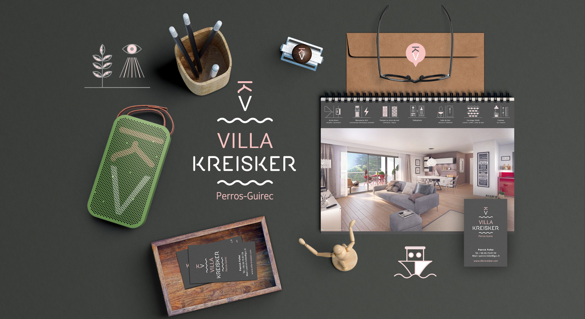 Villa kreisker à Perros Guirec-communication globale-Coqueliko