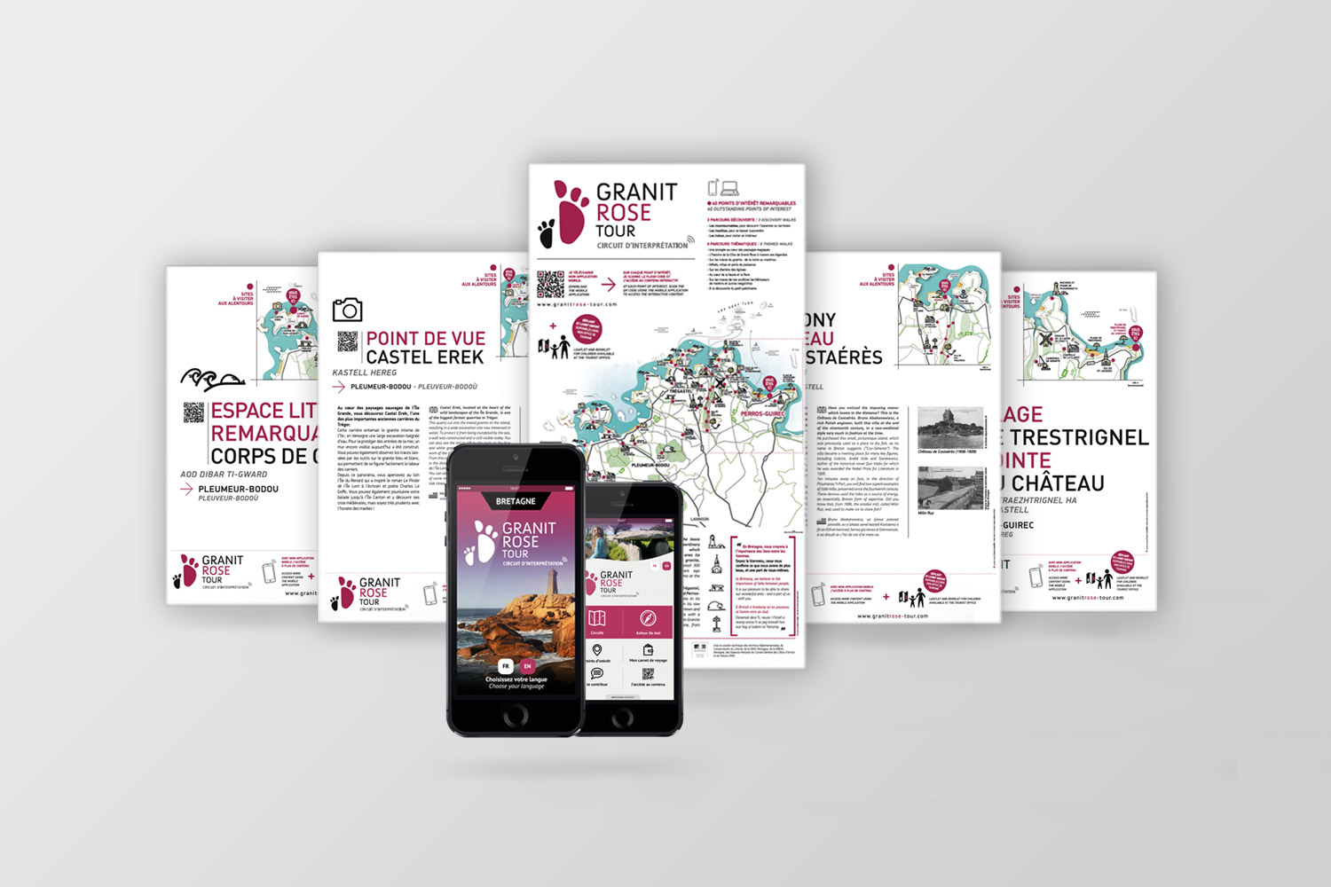 Granit-Rose-Tour-Creation-identité-visuelle-plan-illustration-AgenceCoqueliko-Lannion