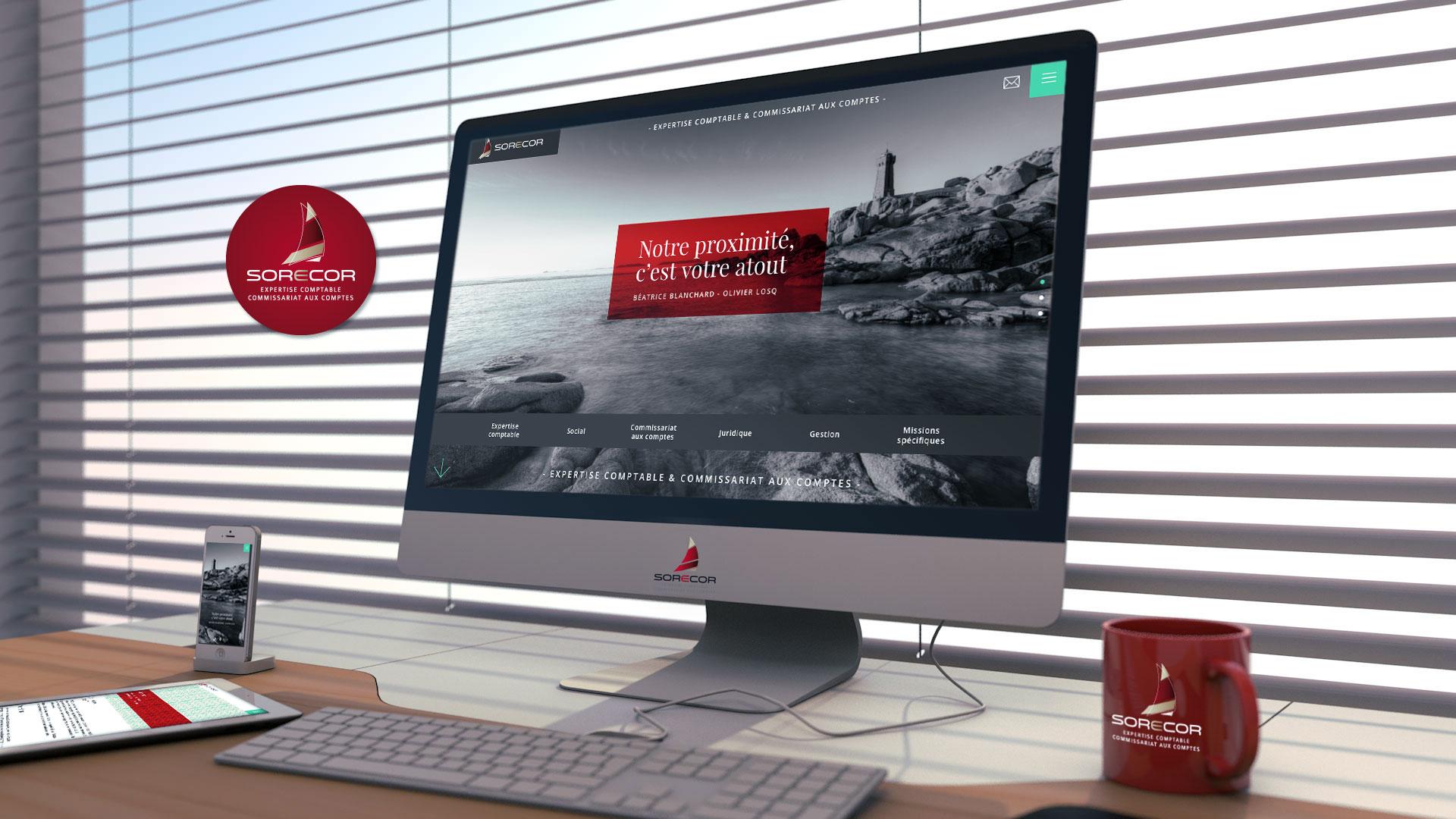 Création du site internet Sorecor - Cabinet comptable à Lannion