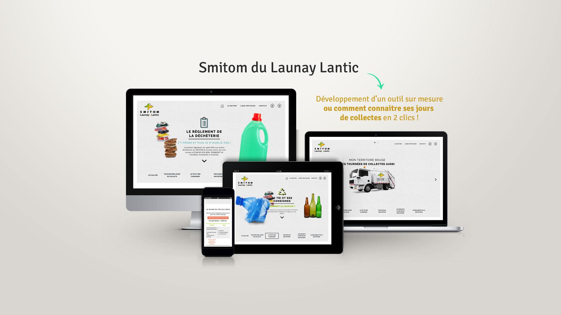 Site internet du Smitom Launay Lantic -par l'agence Coqueliko