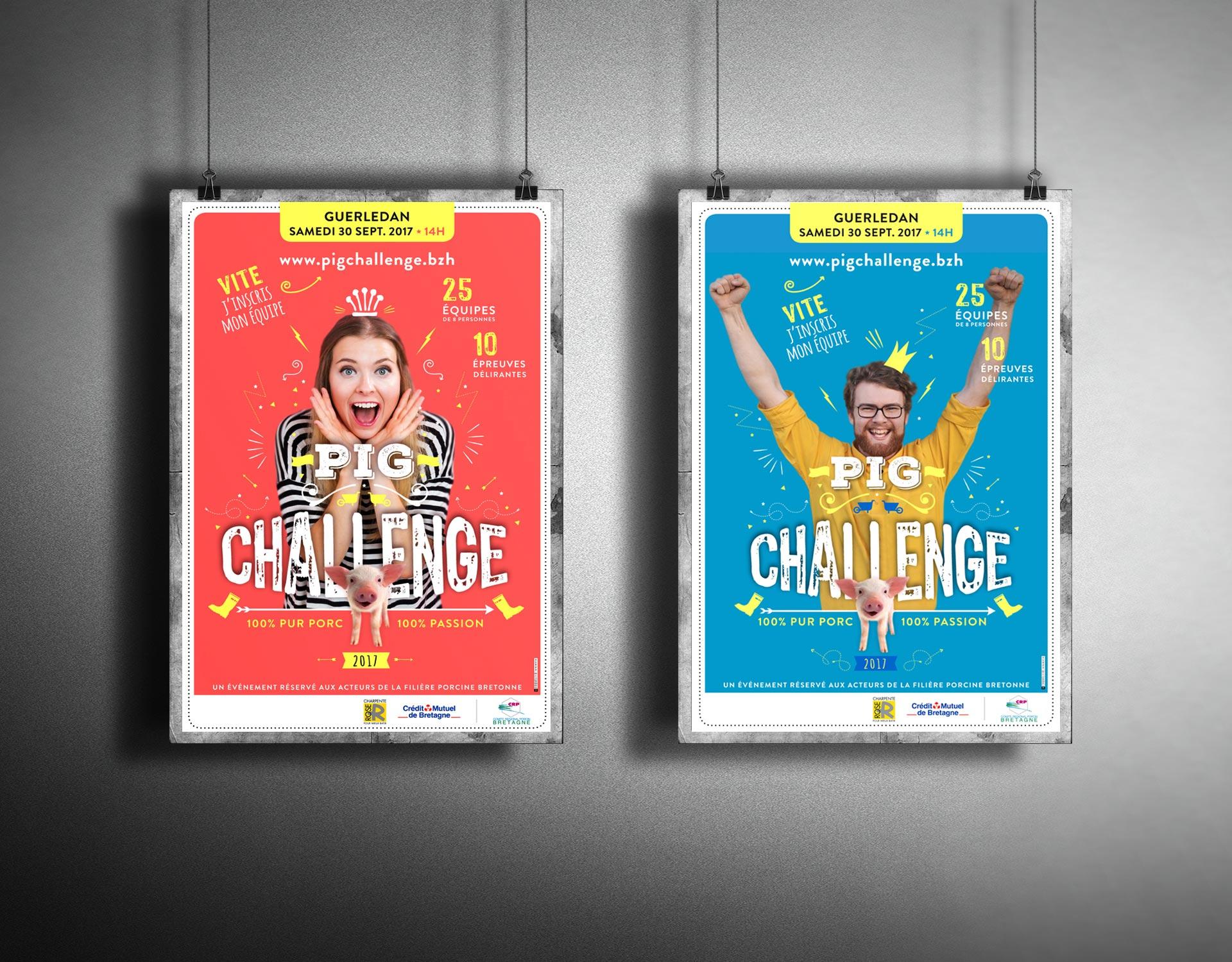 Création d'affiche pour Pig Challenge by Coqueliko