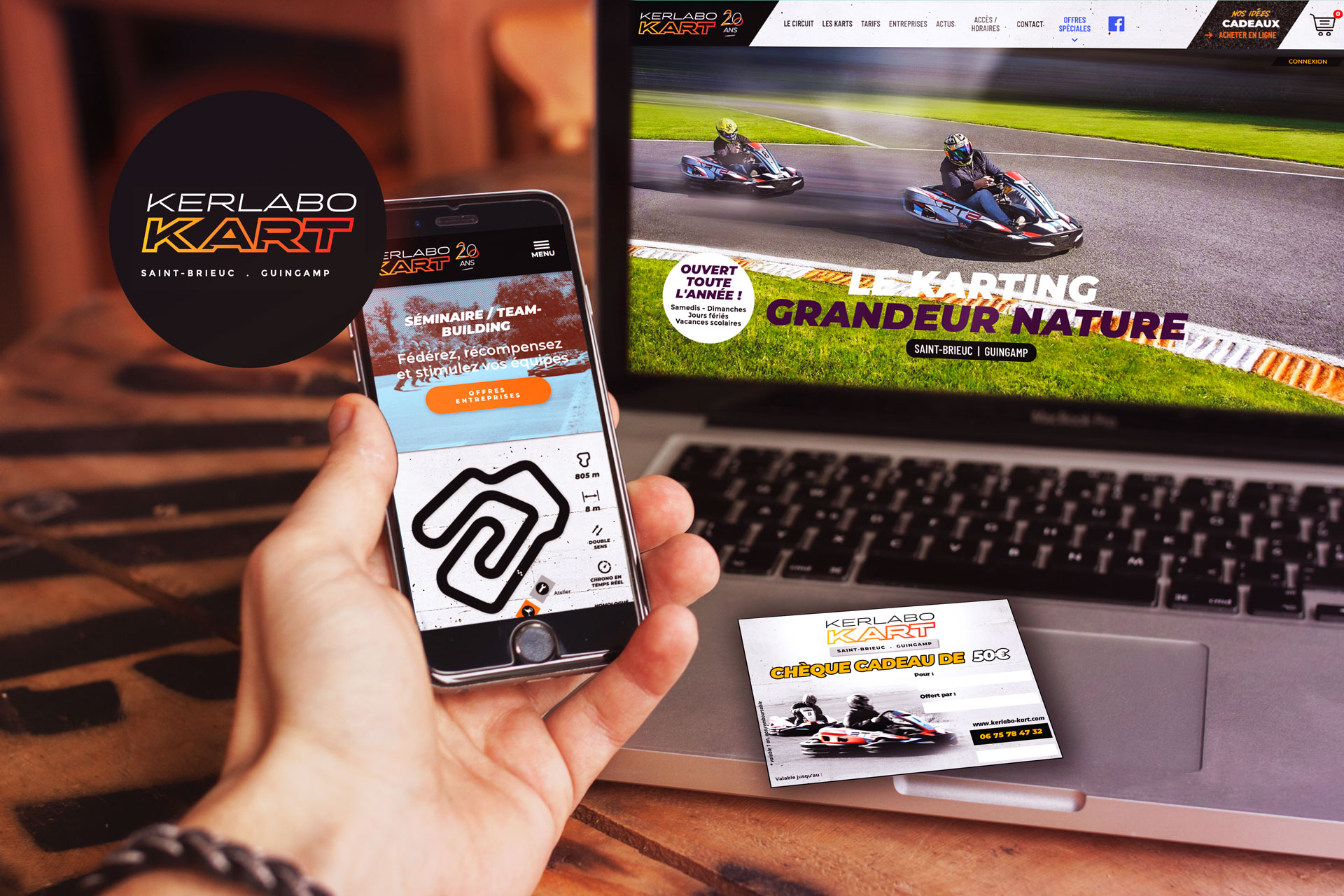 Site internet Karting de Kerlabo by Coqueliko