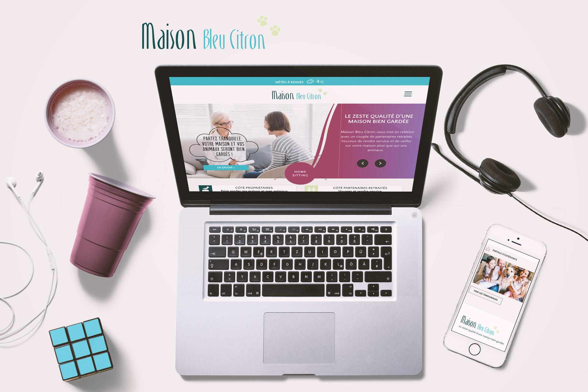 Site Web Maison Bleu Citron- Coqueliko
