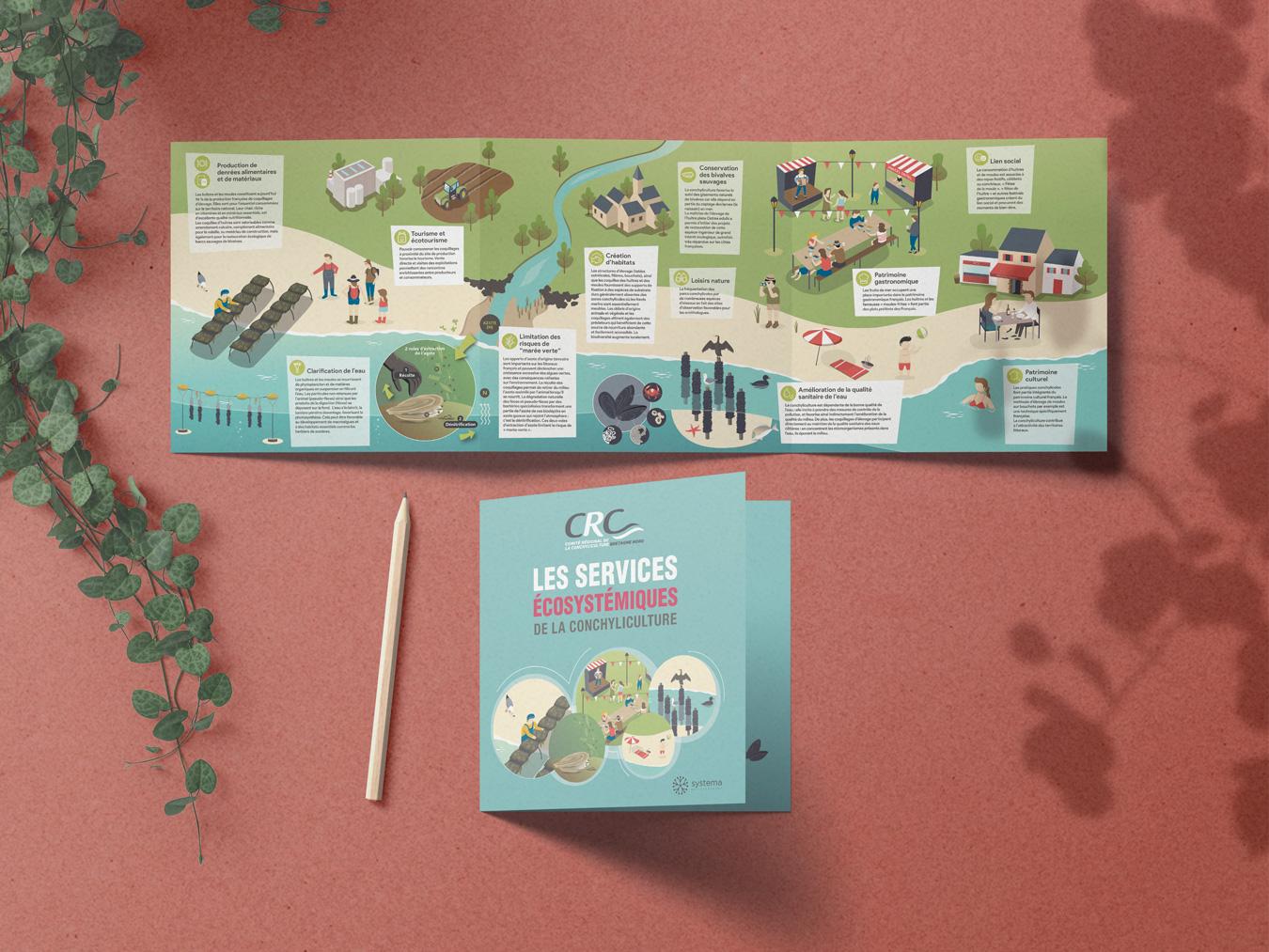 illustration technique et graphique de thèmes scientifique, nature, économique, géographique, régional. Vulgarisation. Impression plaquette, animation, motion design. Coqueliko Roudenn Graphic Lannion.