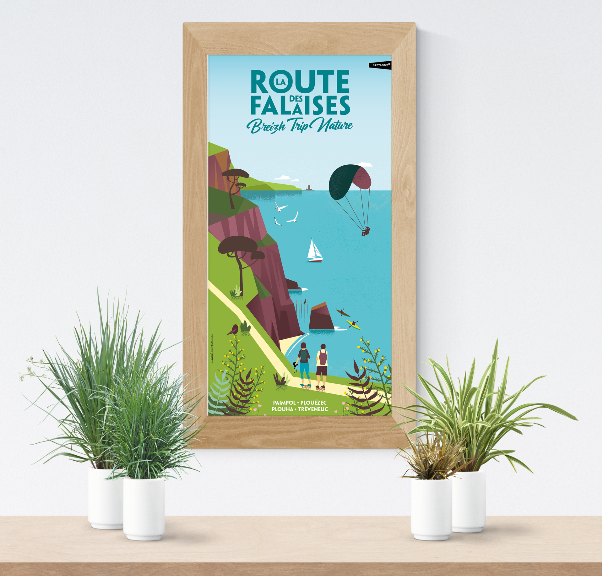 Illustration-nature-carte-touristique-Coqueliko-Lannion