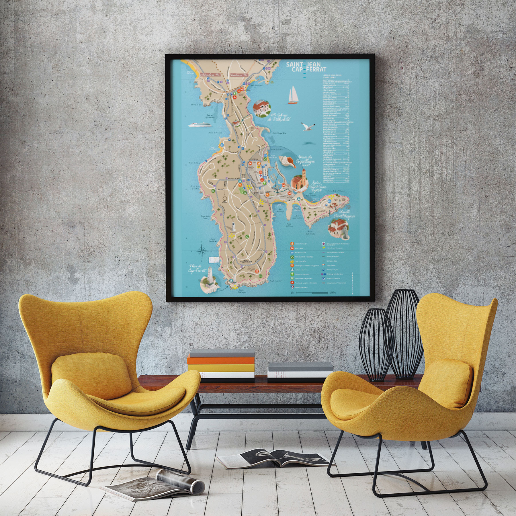 Creer et imprimer un plan de ville-Saint-Jean-Cap-FerratCoqueliko-Communication Lannion