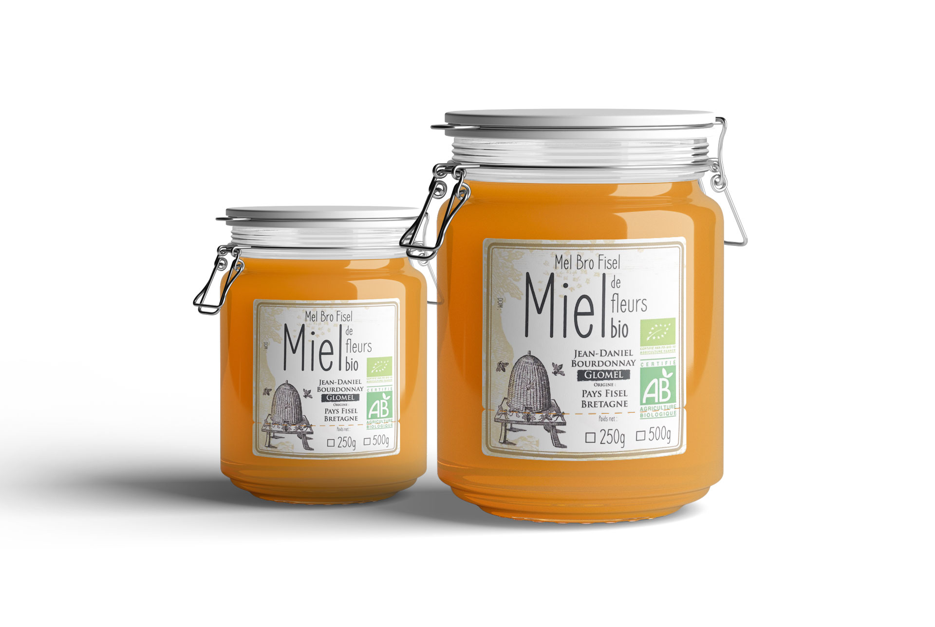 Etiquettes rouleaux adhésives agroalimentaire miel coqueliko roudenn Lannion