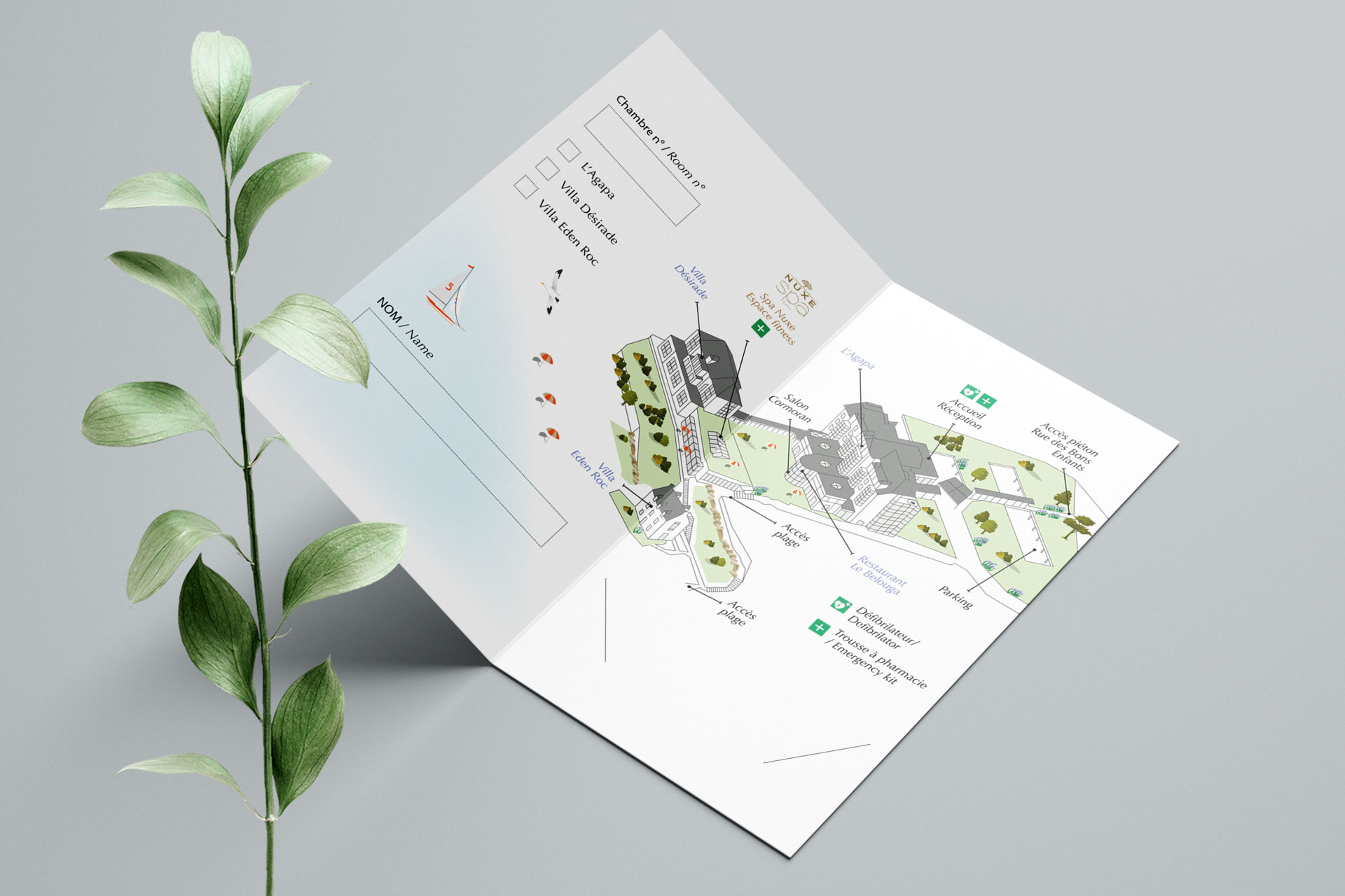 impression carte magnétique porte-carte hôtel hôtellerie Agapa Perros-Guirec Coqueliko Roudenn Lannion
