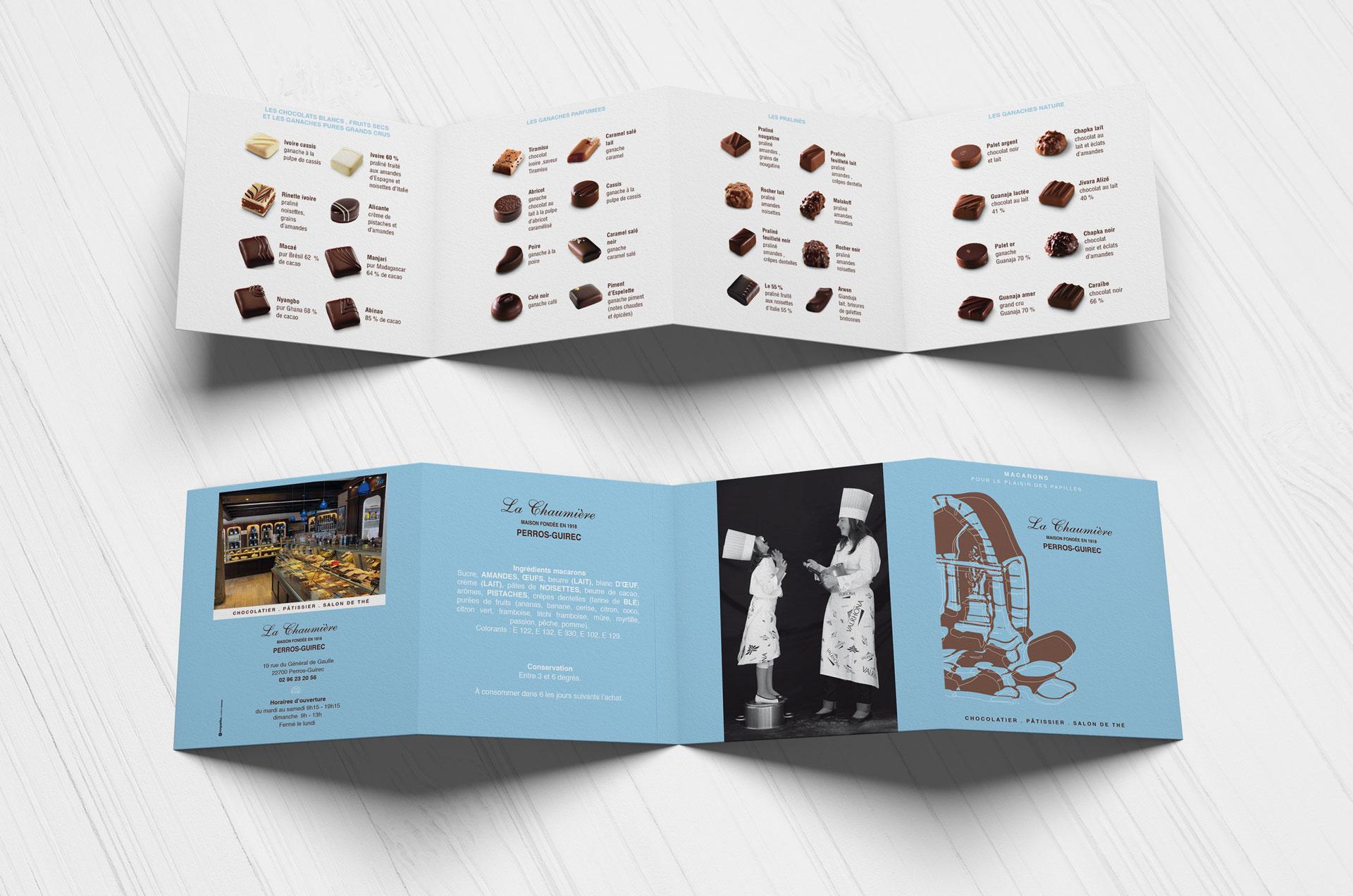 chocolats chaumière perros-guirec catalogue dépliant vente produits coqueliko Lannion roudenn