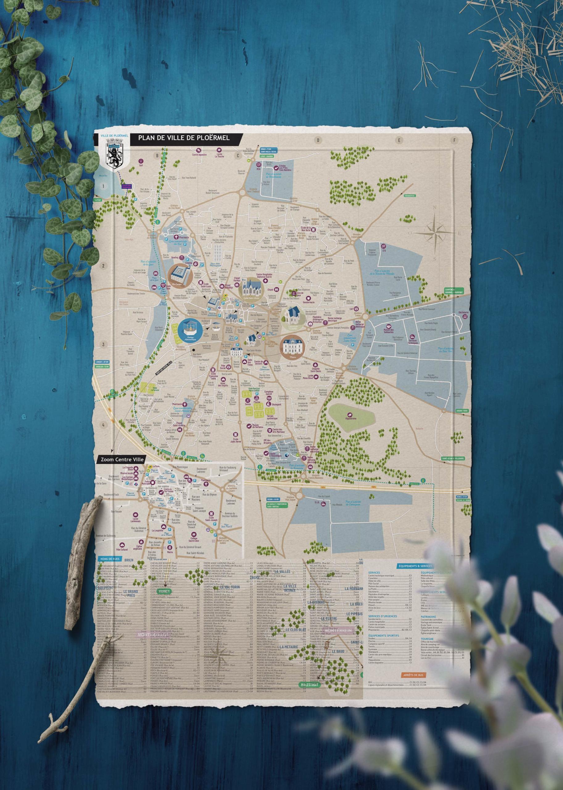 plan-de-ville-ploermel-creation-impression-coqueliko-roudenn-lannion